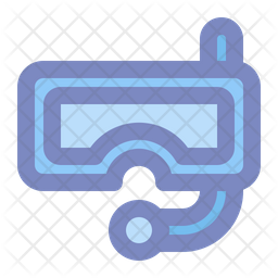 Snorkel Colored Outline Icon