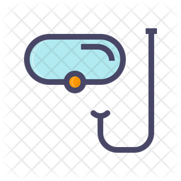 Snorkeling Colored Outline Icon