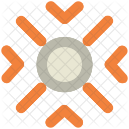 Snow Colored Outline Icon