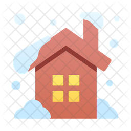 Snow covered house Icon