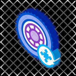 Snow Tires Icon