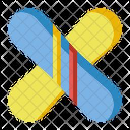 Snowboards Flat Icon