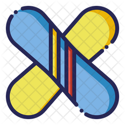 Snowboards Colored Outline Icon