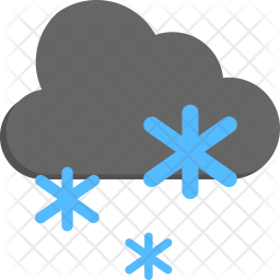 Snowfall Flat Icon