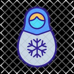Snowflakes Matryoshka Doll Icon