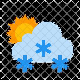 Snowing Sunny Icon