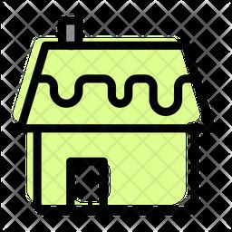 Snowy House Icon