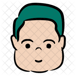 Sober Boy Colored Outline Icon