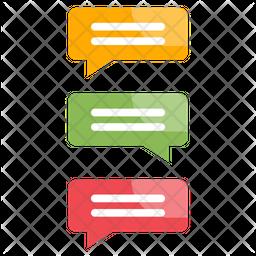 Social Chat Flat Icon