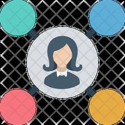 Social Circle Flat Icon