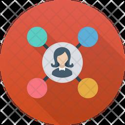 Social Circle Gradient Icon