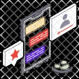 Social Feedback Isometric  Logo Icon