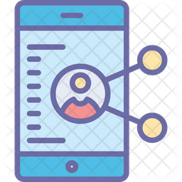 Social Media Colored Outline Icon