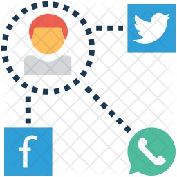 Social media 26 Colored Outline Icon