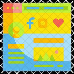 Social Media Account Icon