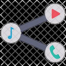 Social Media Network Flat Icon