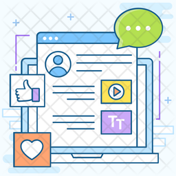 Social Media Tools Colored Outline Icon