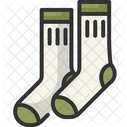 Socks Colored Outline Icon