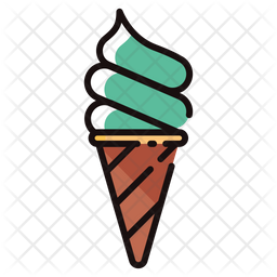 Softserve Ice Cream Icon Of Colored Outline Style Available In Svg Png Eps Ai Icon Fonts