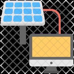 Solar Connection Flat Icon
