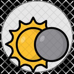 Solar Eclipse Flat Icon