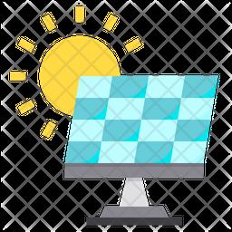 Solar Panel Flat Icon