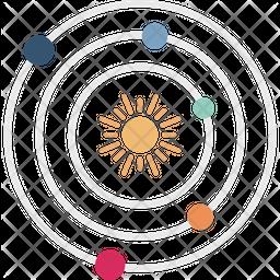 Solar Space Flat Icon