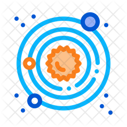 Solar System Colored Outline Icon