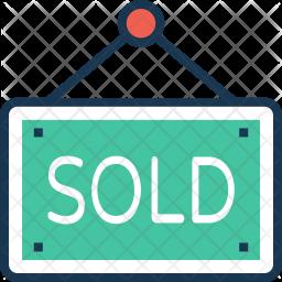 Sold board Colored Outline Icon