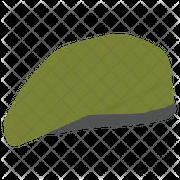 Soldier Cap Flat Icon