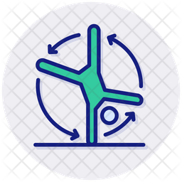 Somersault Colored Outline Icon