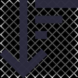 Sort Descending Line Icon