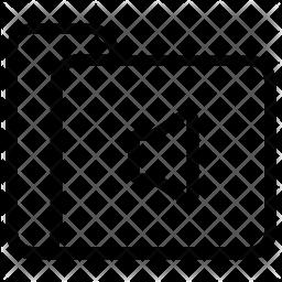 Sound folder Line Icon