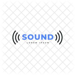 Sound Logo Colored Outline Icon