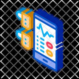 Sound Monitoring Isometric Icon