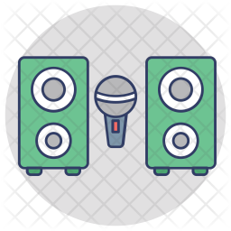 Sound System Icon Of Colored Outline Style Available In Svg Png Eps Ai Icon Fonts