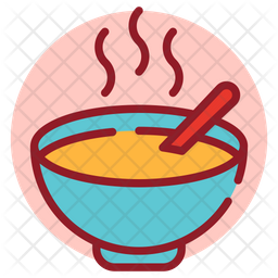 Soup Colored Outline Icon