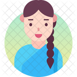South indian girl Gradient Icon