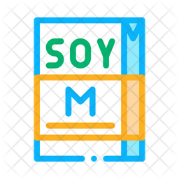 Soy Milk Package Icon