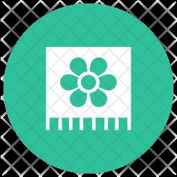 Spa Towel Glyph Icon