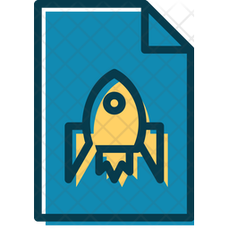 Space Lessons Document Colored Outline Icon
