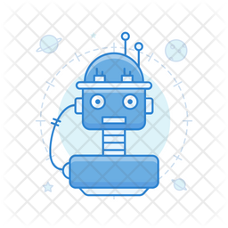 Space Robot Colored Outline Icon