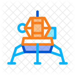 Spacecraft Colored Outline Icon