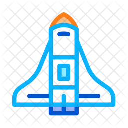 Spaceship Colored Outline Icon