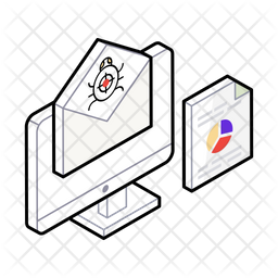 Spam Email Isometric Icon