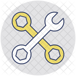 Spanner with Wrench Icon