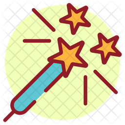 Sparklers Colored Outline Icon