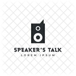 Speaker Logo Colored Outline Icon
