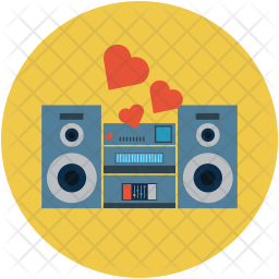 Speakers with hearts Icon