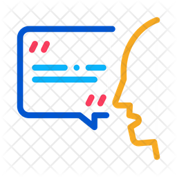 Speaking Word Icon Of Colored Outline Style Available In Svg Png Eps Ai Icon Fonts